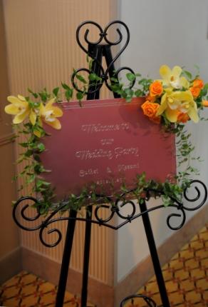 結婚式のウェルカムボードの写真